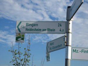 Radwegebeschilderung Rheinhessen