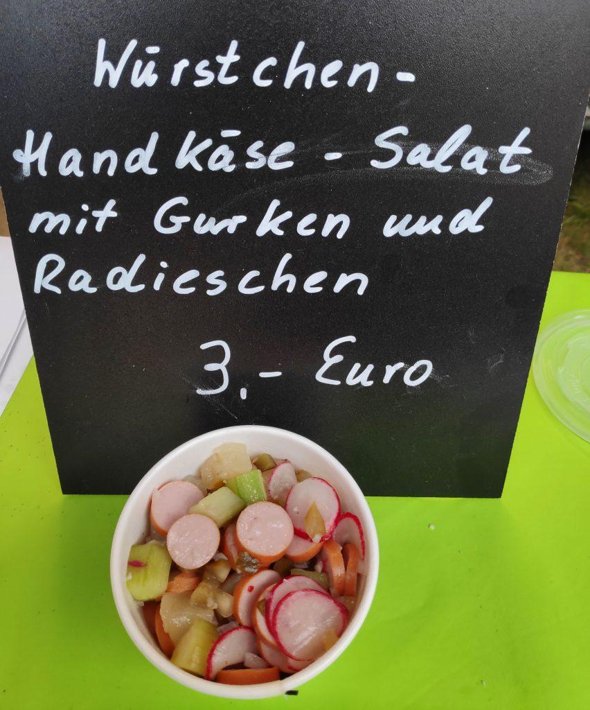 Wüstchen-Handkäse-Salat